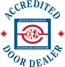 IDEA accredited door dealer badge